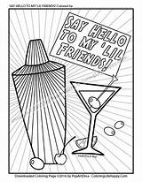 Coloring Cocktail Pages Adult Cobbler Martini Shaker Printable Soybean Luther Martin King Drawing Colouring Etsy Getdrawings Visit Books Getcolorings Cocktails sketch template
