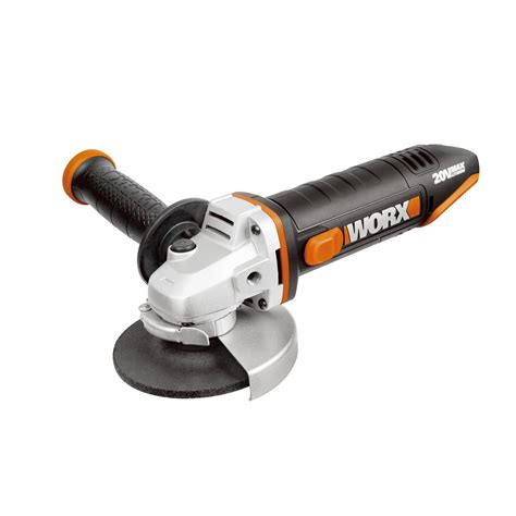 worx powershare cordless  mm angle grinder wx