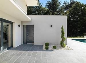 terrasse d39une maison contemporaine a ossature bois With eclairage exterieur maison contemporaine 10 piscine et amenagement carquefou contemporain terrasse