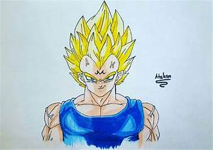 Drawing majin vegeta ssj2 | DragonBallZ Amino