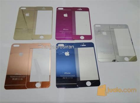 tempered glass mirror iphone   anti gores kaca