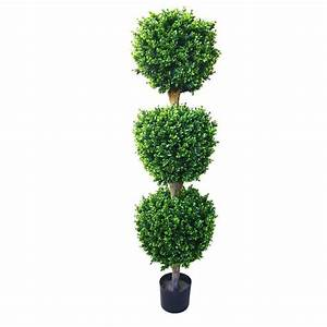 Romano 5 ft Hedyotis Triple Ball Topiary Tree-50-10007-R