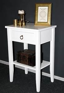 Telefontisch Weiß Hochglanz : nachtkommode 40x60x30cm 1 schublade 1 ablageboden pappel massiv wei lackiert ~ Markanthonyermac.com Haus und Dekorationen