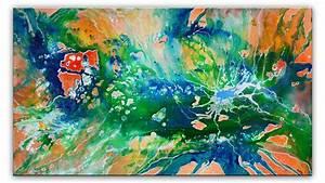 Abstrakte Bilder Online Kaufen : nature wandbild abstrakt gr n blau orange kunst a brehm ~ Bigdaddyawards.com Haus und Dekorationen
