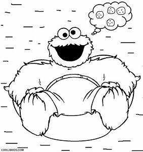 Cookie Monster Eating Cookies Coloring Pages - Medium Size ...