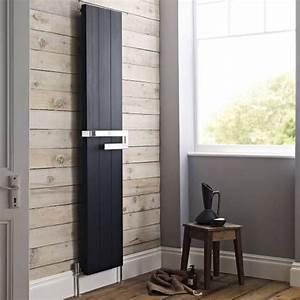 Heizkörper Flach Design : design heizk rper vertikal schwarz mit handtuchstange 3242 watt 1800mm x 370mm x bath barn ~ Eleganceandgraceweddings.com Haus und Dekorationen