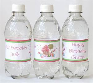 how to make custom water bottle labels glorious treats With how to make your own labels for bottles
