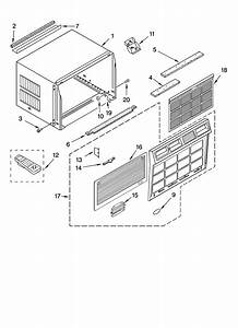 Whirlpool Acq219xp0 Room Air Conditioner Parts