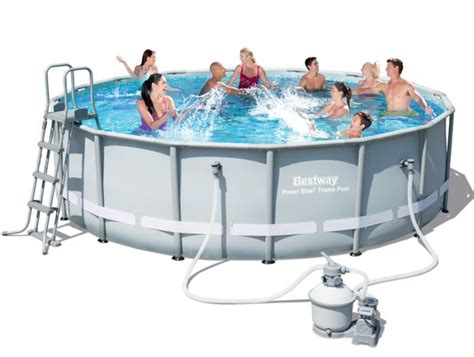 frame pool bestway bestway steel pro silver metal frame pool 16ft x 48 quot
