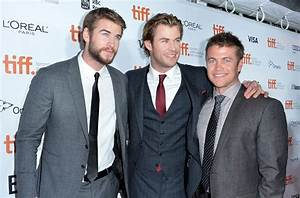Chris, Liam and Luke Hemsworth at Rush TIFF Premiere ...