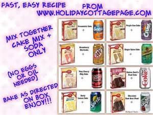 Soda Pop Cake Recipes and Mixes