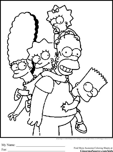 simpson coloring pages    print