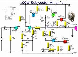 Subwoofer Amplifier 100w Output With Transistor