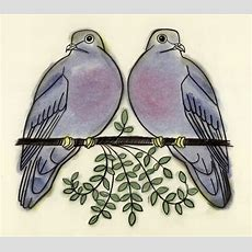 Two Turtle Doves 4 X 6 Print