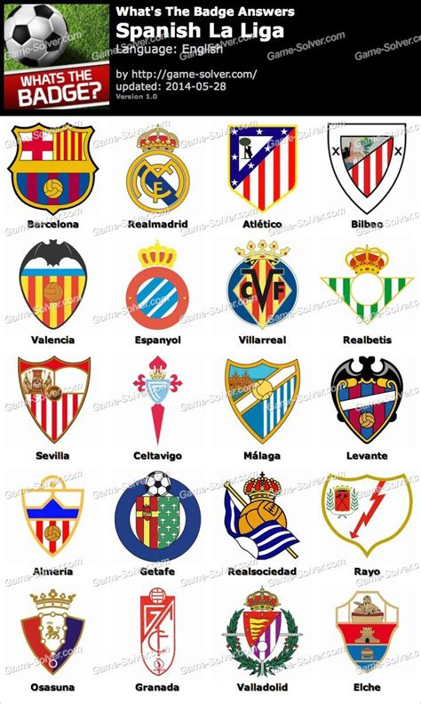Whats The Badge Spanish La Liga Answers - Game Solver
