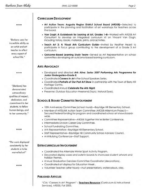 and craft resume format visual arts resume 1 gif 838 215 1 106 pixels teaching resume