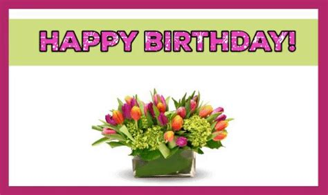 happy birthday  tulips  happy birthday ecards