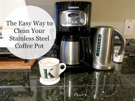 Descaling removes the buildup, cleans the inner parts of your coffee maker, and ensures that it for the ninja coffee bar, pour white vinegar into the water reservoir up to the travel mug line, which is 16 ounces. How to Clean a Stained Coffee Pot (without vinegar)   D...   Doovi