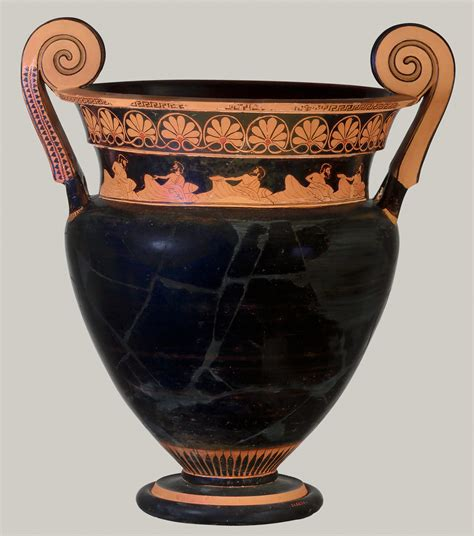 terracotta volute krater bowl  mixing wine  water