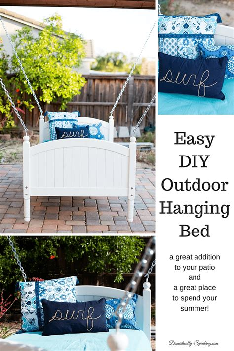 diy outdoor hanging bed easy diy hanging bed domestically speaking