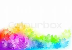 Full color background of autumn Stock Vector Colourbox