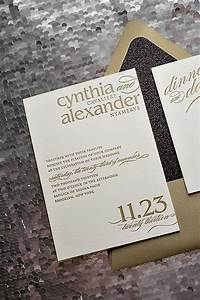 25 best ideas about glitter wedding invitations on With wedding invitations gold writing