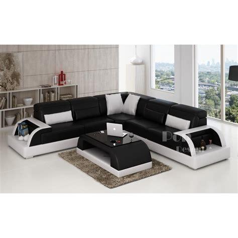 canapé d angle noir cuir photos canapé d 39 angle cuir blanc et noir