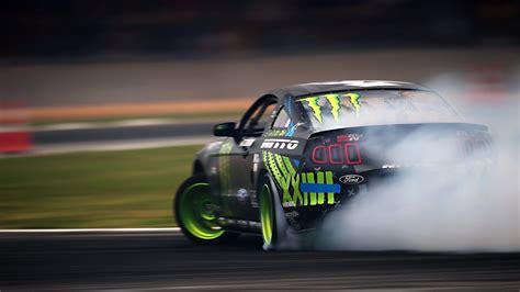 Ford Mustang Drift Track Smoke Wide Hd Wallpaper