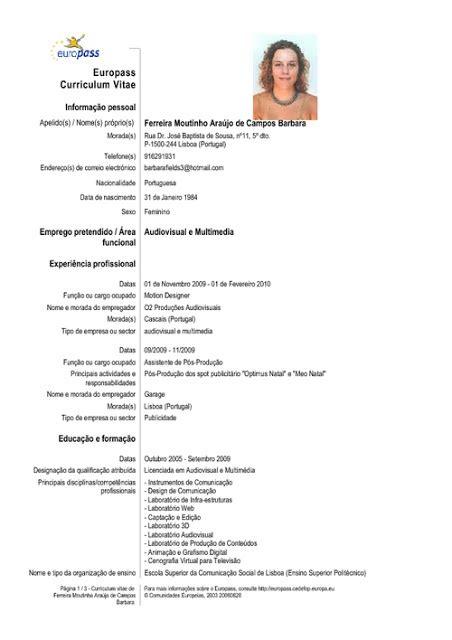 Free Sle Resume Curriculum Vitae by Curriculums Vitae Ejemplo Curriculum Vitae