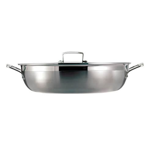 Le Creuset 3ply Stainless Steel Shallow Casserole Dish  26cm  Free Uk Delivery Over £50