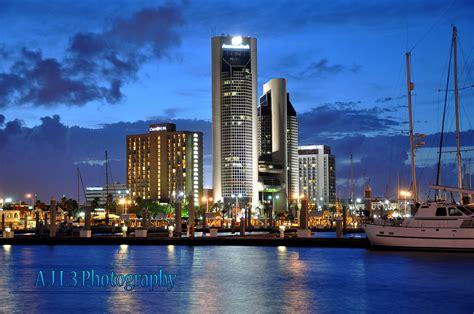 Corpus Christi Skyline | Downtown Corpus Christi at night ...