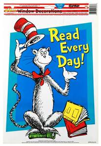 cat in the hat day cat in the hat read every day school window clings