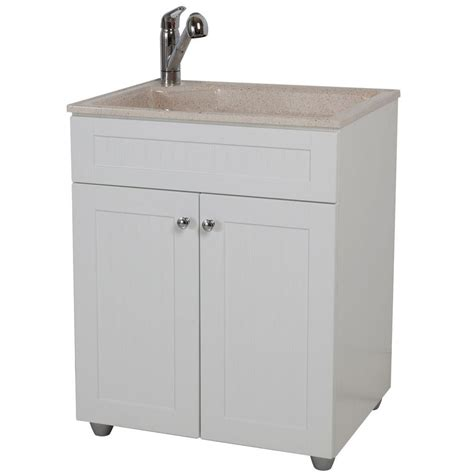 home depot laundry cabinets glacier bay all in one 27 in w x 21 8 in d colorpoint