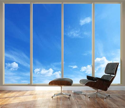 large wall mural clear blue sky   sliding