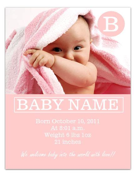worddrawcom  baby announcement template