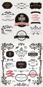 wedding vector graphics blog With classic decorative wedding invitations vector