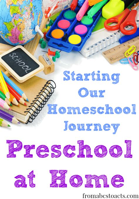 homeschooling resources from abcs to acts 893 | Starting Our Homeschool Journey Preschool at Home