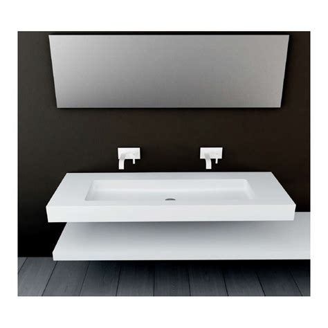 plan vasque mural blanc mat soho solid surface vasque xl