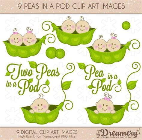 peas in a pod baby shower items similar to 9 peas in a pod baby shower clip