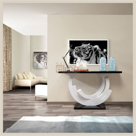 meuble de rangement cuisine console de salon design moderne laque bicolore