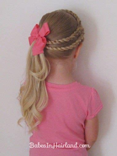 tresses faciles pour petite fille coiffure simple et facile