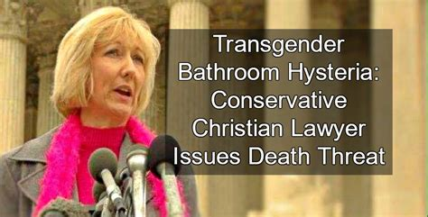 christian lawyer issues death threat  trans bathroom