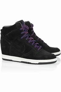 Nike Dunk Sky Hi Suede Wedge Sneakers in Black - Lyst  Nike