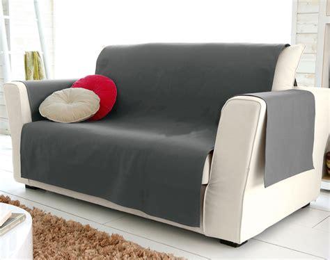 jete de canape gris protège fauteuil et canapé universels becquet