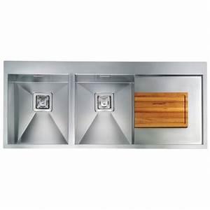 Edelstahl Spüle Doppelbecken : cm clark 116x50 einbausp le doppelbecken edelstahl geb rstet fab a ~ Markanthonyermac.com Haus und Dekorationen