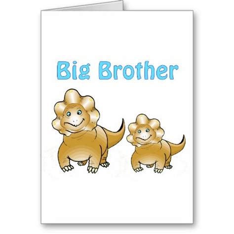 Dinosaur Big Brother Card  Baby Shower Supplies And Big