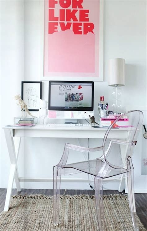 pink office room ideas  girl