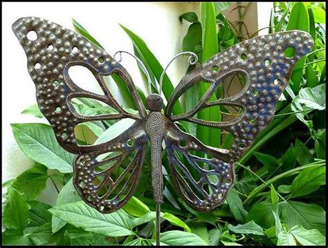 Haitimetalart  Butterfly Garden Art, Metal Plant Stake