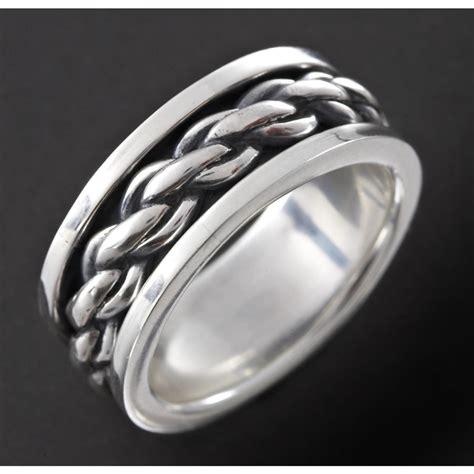 black  silver rings  men diamondstud