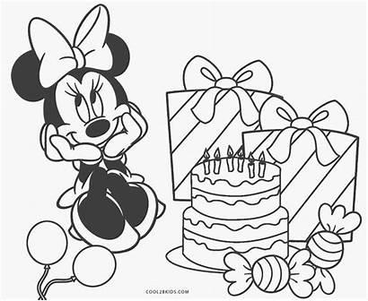 Coloring Birthday Happy Printable Disney Sheets Cards